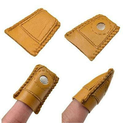 1PC Finger Hemline Leather Coin Thimble Sewing Quilting Metal Tip Comfortable LG