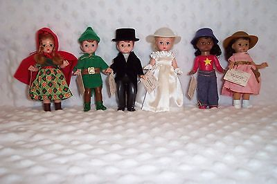 """Madame Alexander Dolls McDonalds 2002 Complete Set of 6  5"""" dolls with tags"""