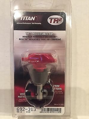 NEW Titan 692-313 TR2 Reversible Spray Tip, Two Tips In One