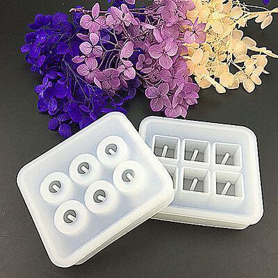 Silicone Jewellery Making Epoxy Cube Designed Mould Pendant Mold Supplies