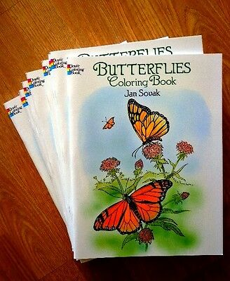 Htf! Adult/child Butterflies Coloring Book Dover Art Therapy Hobby Stress