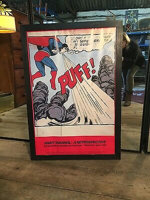 Limited Edition Andy Warhol Print A Retrospective Framed Superman, New York 1989