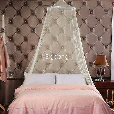 Round Curtain Dome Bed Canopy Netting Princess Mosquito Net White New BG1