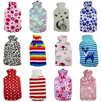2L Hot Water Bags With Fleece Cover Rubber Warmer Health Care Bottles NEW