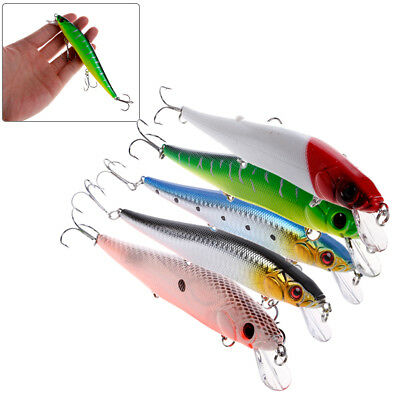 Hard Minnow Fishing Lures Bass Crankbait 4# Hook Tackle Crank Baits 14cm/23g