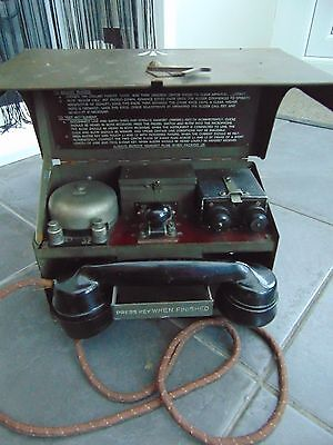 Rare Ww2 Military Field Telephone & Morse Tele Set D.mk.v.  Ya1853