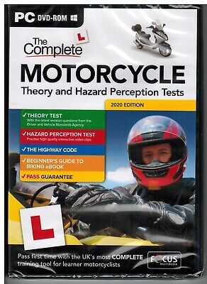 2017 Complete Motorcycle/Motorbike Theory & Hazard Perception Tests PC DVD*FC_M