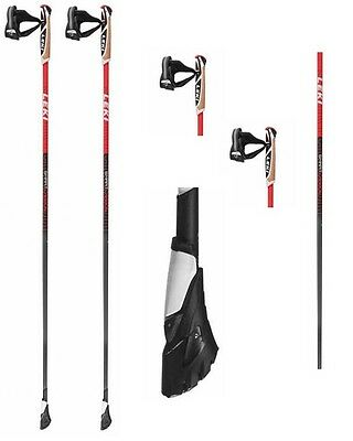 Leki Smart Carbon * Nordic Walking Stöcke * Rot - 100% Carbon - Neu