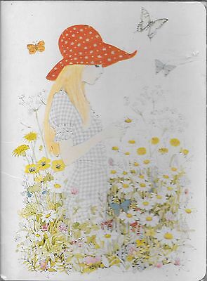 Vintage letter set in folder lady in flowers made in Taiwan half used