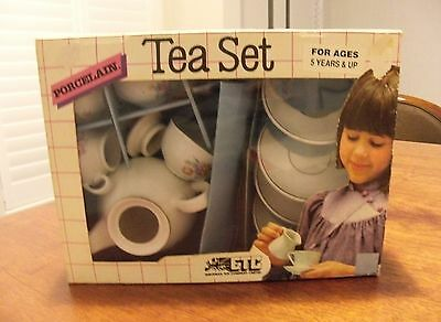 Vintage porcelain tea set European Toy Company original box made East Germany