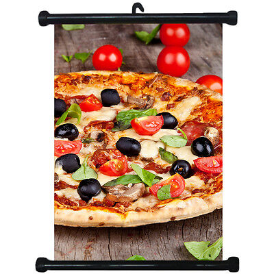 sp217112 Pizza Wall Scroll Poster For Shop Decor Display