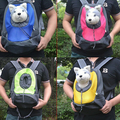 Pet Carrier Dog Cat Puppy Travel Bag Mesh Backpack Head out Carrier Bag LY