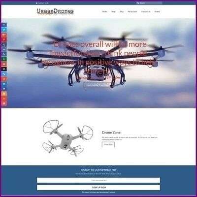 "Fully Stocked Dropshipping FLYING DRONES Website Store. ""300 Hits A Day"""
