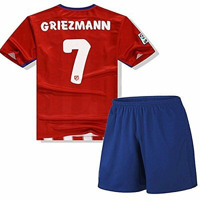 Atletico Madrid Soccer Jersey Set Replica Griezmann Football T-shirt + Shorts