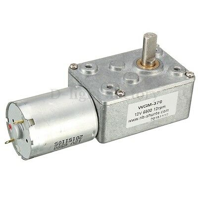 12V 12rpm DC JGY370 Worm Turbo Gear Motor Right Angle Gear Motor Metal Gearbox