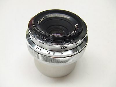 ZEISS IKON CARL ZEISS PLANAR f3.5 35mm LENS FOR CONTAX RANGEFINDER