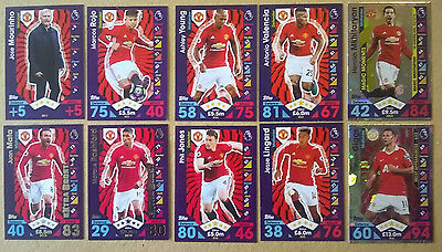 16 17 Topps Match Attax Extra 10 Manchester United Cards All Listed Mufc
