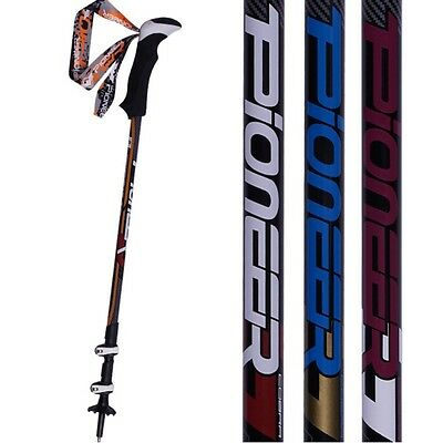 Pair 2 Trekking Walking Hiking Sticks Poles Alpenstock Adjustable Anti-Shock Hot