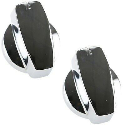 2 x Chrome Cooker Oven Gas Hob Control Dial Knob For Belling Stoves 444440223