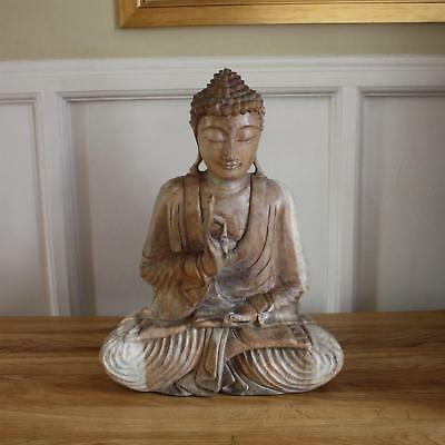 Wooden Buddha Statue (Praying) - 32cm/42cm