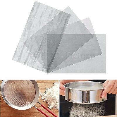300mm x 200mm Stainless Steel Woven Wire Mesh Filter Grading Sheet 60-120 Mesh