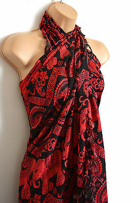 African Ethnic Summer Sarongs, Swimwear Tribal Pareo Scarfs Holiday Accessories