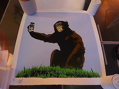 "T. Wat ""Age the Selfie"" Signed & numbered Screen print (Banksy interest)"