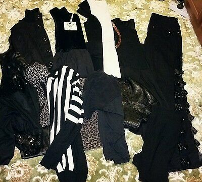 Lot of ladies goth clothes. Size 10