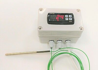 Temperature Controller Assembly, C/W Thermocouple Or Pt100 Sensor Wired