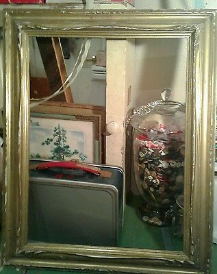 vintage picture frames wood ANTIQUE 1920S GOLD PAINTING ART OLD GUESSO 19TH C