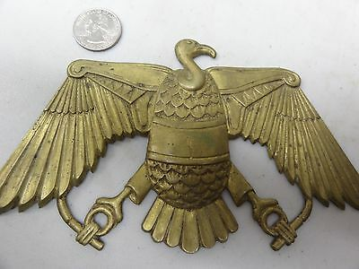 Old Rare Vintage Medal Unknown Origin Bird With Wings Spread Brass