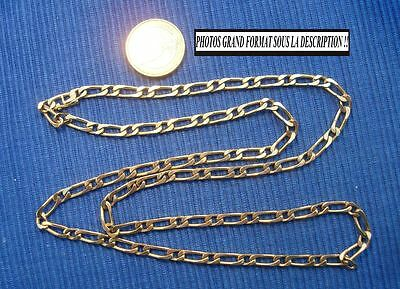 B8 Chaine Homme Plaqué Or Maille Figaro ancien bijou lot vintage