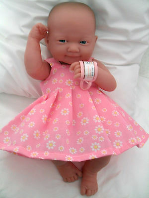 """14"""" Pinny Dress Dolls Clothes Fit Little Baby Born First Annabell 34Cm"""