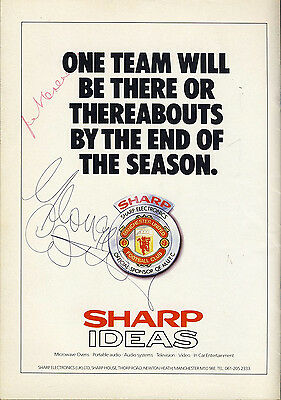 SIGNED Manchester United v Arsenal 19th August 1987 Football Programme f2057