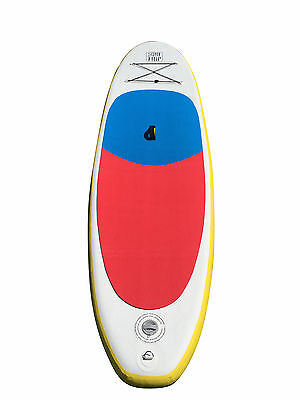 Inflatable 10' SurfTrip Blue/Red Paddleboard w Paddle, Storage bag & Repair Kit