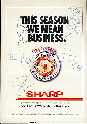 SIGNED Manchester United v Everton10th May 1989 Football Programme f2049