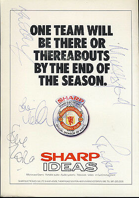 SIGNED Manchester United v Luton Town 25th March 1989 Football Programme f2055