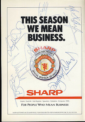 SIGNED Manchester United v Derby County 15th April 1989 Football Programme f2053