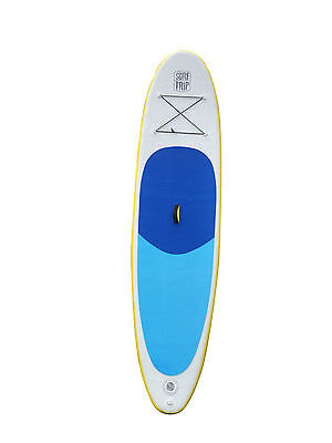 Inflatable 10' SurfTrip Blue Paddleboard w Paddle, Storage bag & Repair Kit