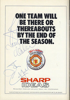 SIGNED Manchester United v Crystal Palace 28th Oct 1987 Football Programme f2064