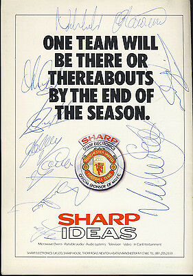 SIGNED Manchester United v Wimbledon 2nd May 1989 Football Programme f2054