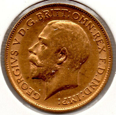 1912 Gold Half Sovereign George V  HIGH GRADE Priced To Sell