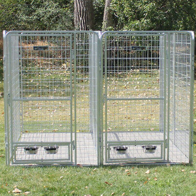 K9 Kennel 2 Dog Galvanized Steel Yard Kennel