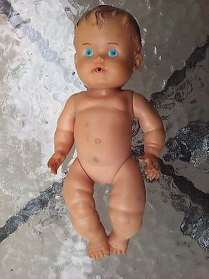 Sun Rubber Doll Ruth E Newton Baby Girl 8in Toy 1950s Vintage Movable Arms Legs