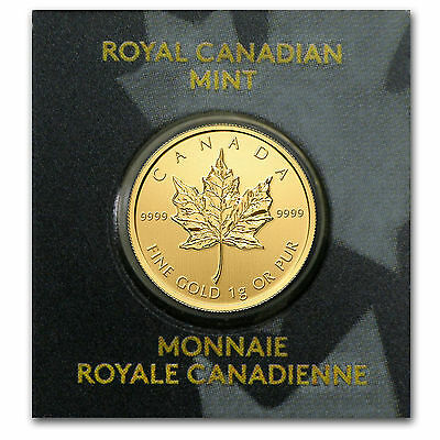 2015 Maplegram25™ 1 gram .9999 Gold Canadian Maple Leaf - Royal Canadian Mint