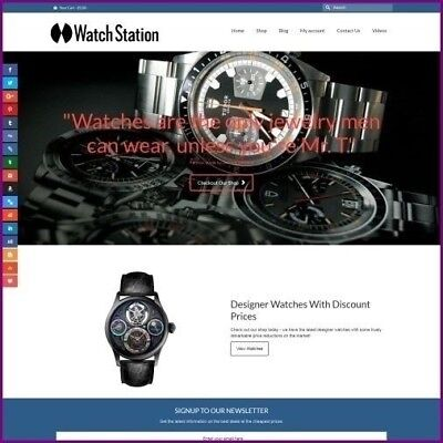 """Fully Stocked Dropshipping DESIGNER WATCHES Website Store. """"300 Hits A Day"""""""