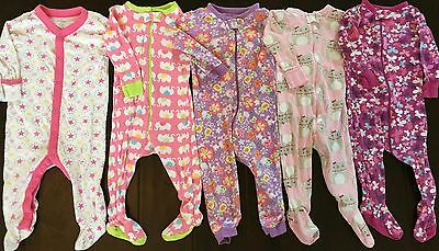 Children's Place Old Navy baby girl footed sleeper pajamas lot 6 9 12 months