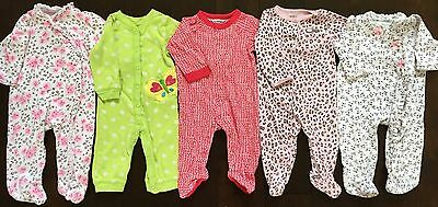 Carter's Little Me baby girl sleeper footed pajamas sleep and play lot 6 months