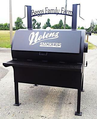 New Commercial BBQ Rotisserie Smoker Grill On Stand