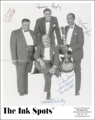 The Ink Spots - Inscribed Photograph Signed With Co-Signers
